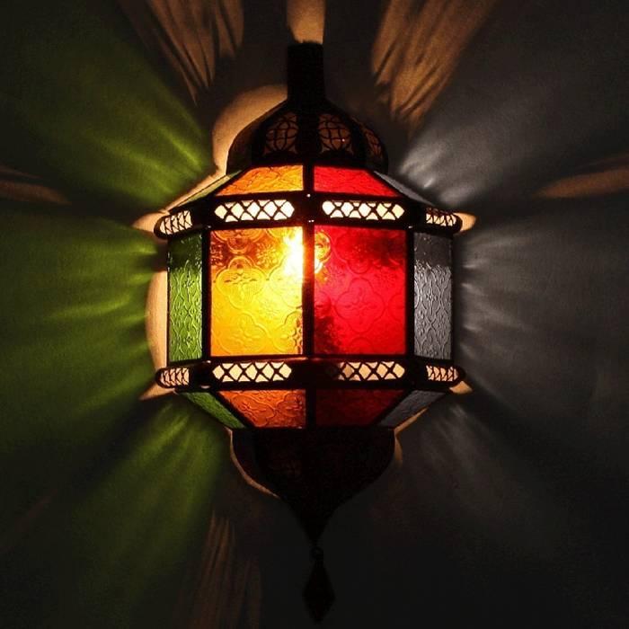 Arabska lampa ścienne, kinkiet TROMBI wielobarwna od DomRustykalny.pl Rustykalny