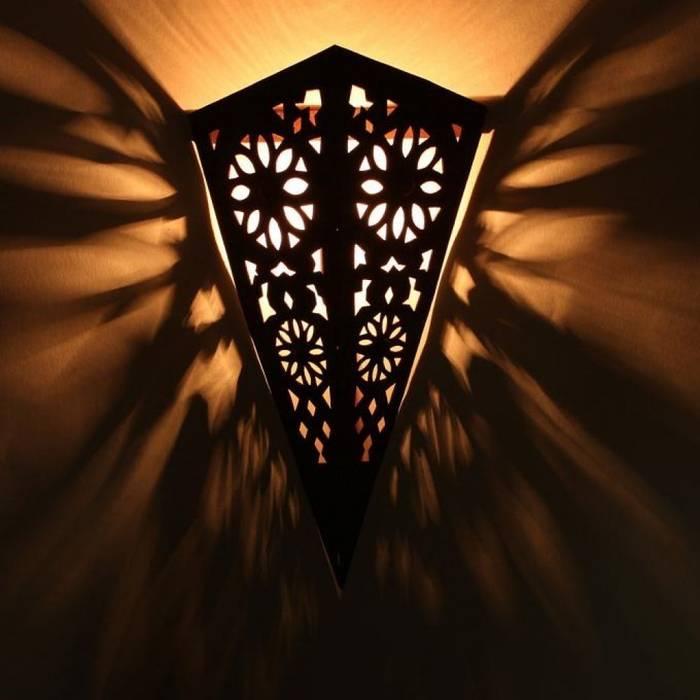 Orientalna ścienna lampa żelazna EWL07: styl , w kategorii Miejsca na imprezy zaprojektowany przez DomRustykalny.pl