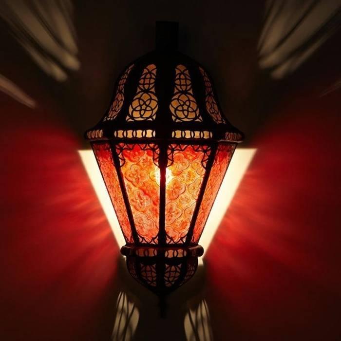 Orientalna lampa ścienna BELUTI czerwona od DomRustykalny.pl Rustykalny