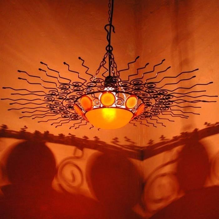 Lampa orientalna SHUWIKA: styl , w kategorii Miejsca na imprezy zaprojektowany przez DomRustykalny.pl
