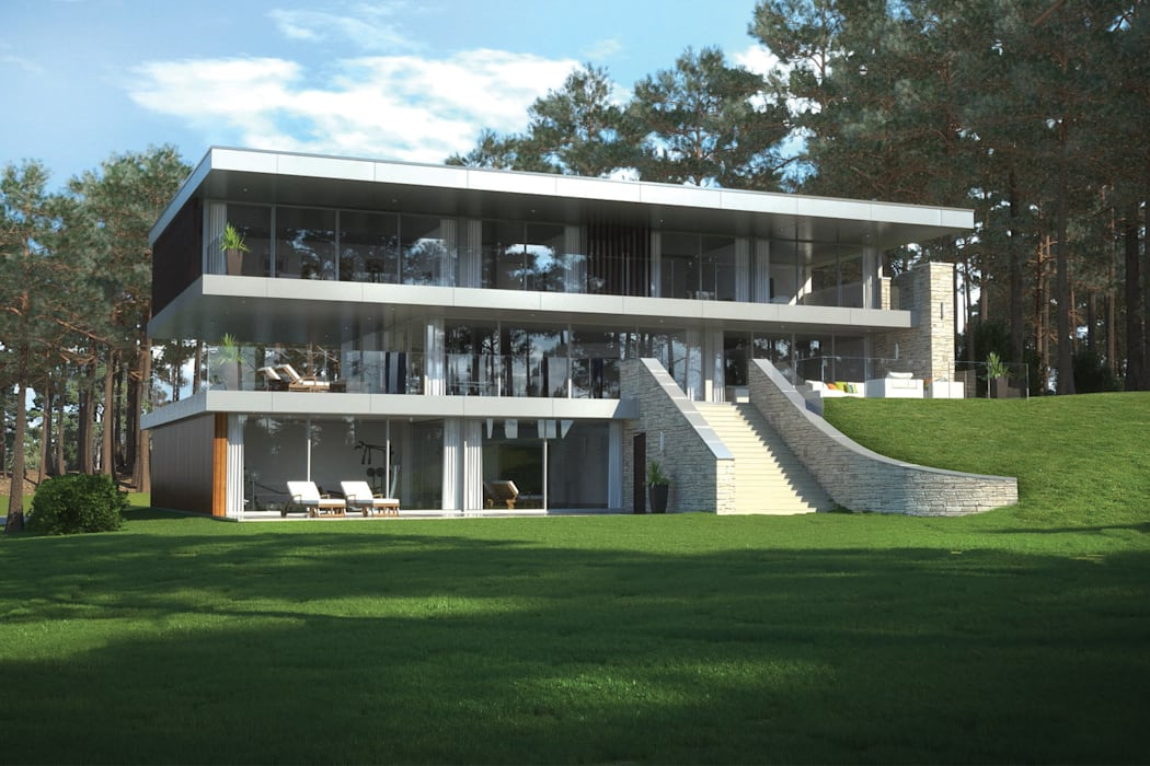 Canford Cliffs, Poole David James Architects & Partners Ltd Modern home