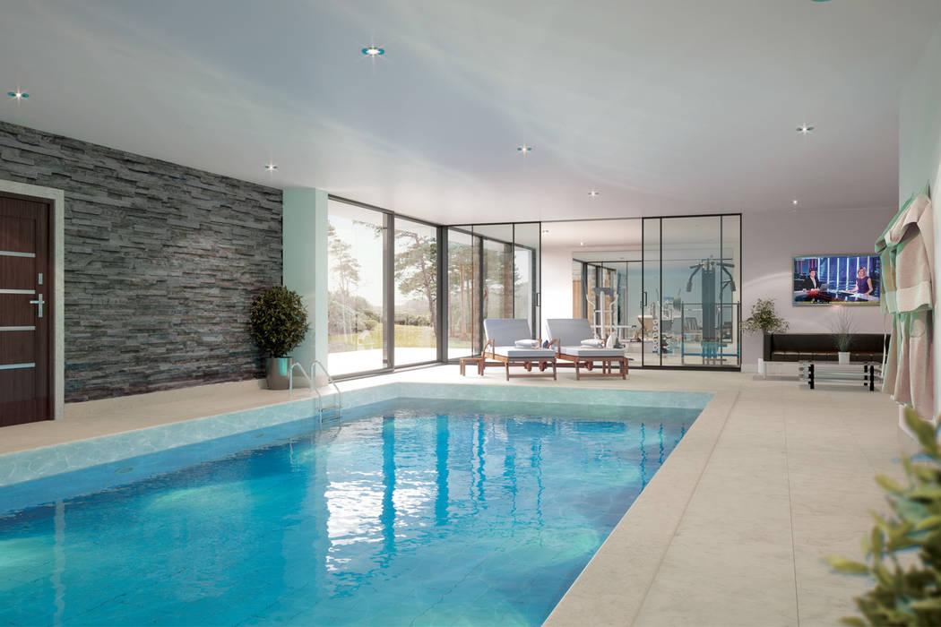Canford Cliffs, Poole Piscinas de estilo moderno de David James Architects & Partners Ltd Moderno