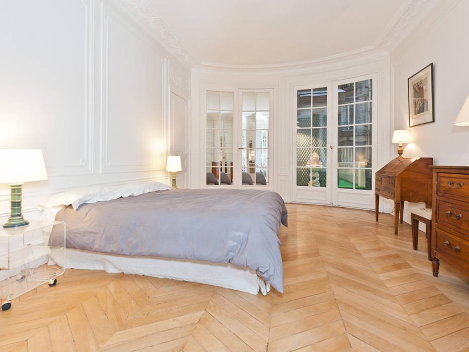 Décoration d\'un appartement haussmannien: chambre de style par ...