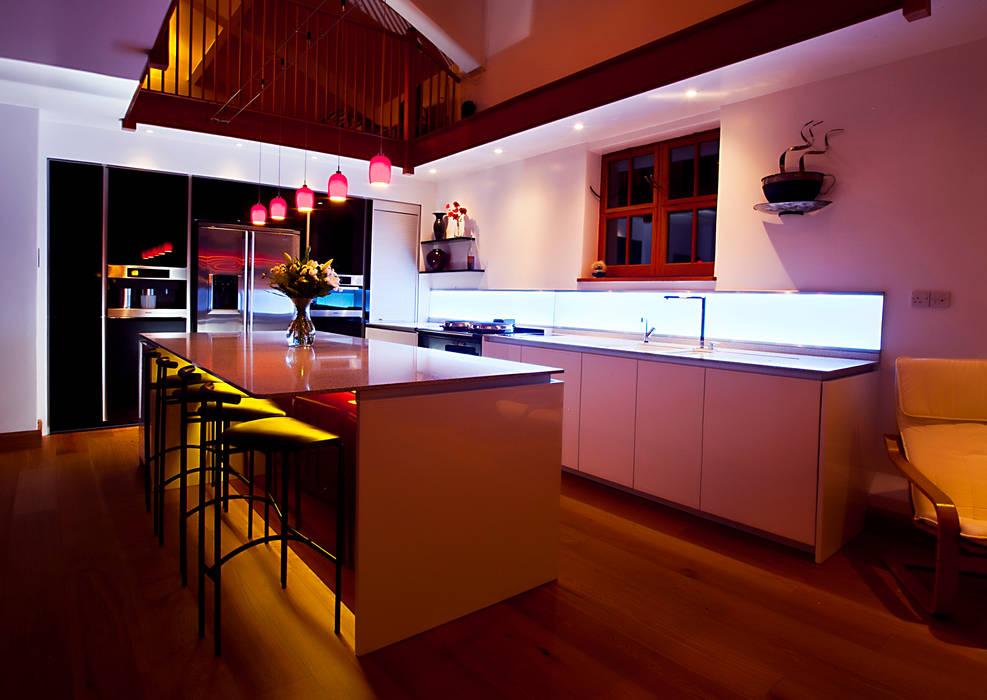 Private Residence, Devon Modern kitchen by LiteTile Ltd Modern