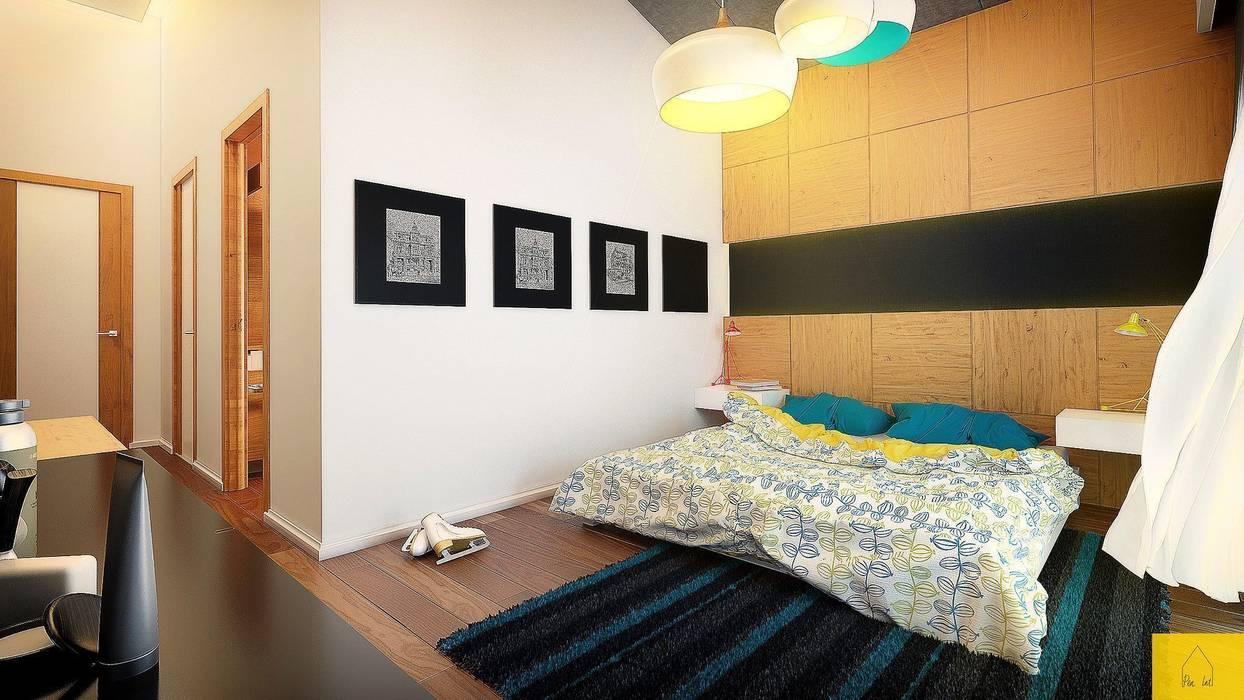 Erbek Nif 3+1 Villa için Tasarımlar - Üst Kat Modern Yatak Odası Penintdesign İç Mimarlık Modern