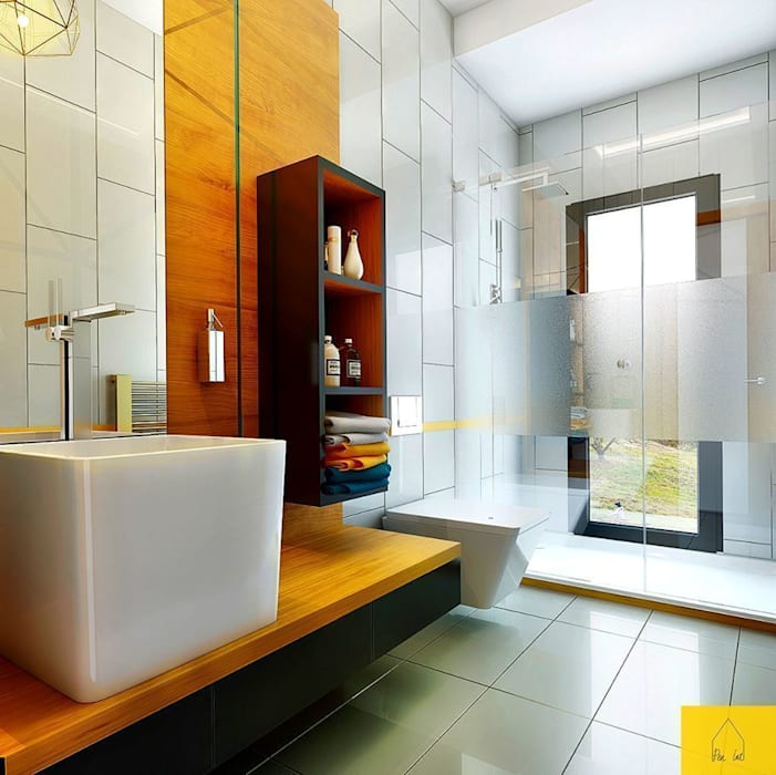 Penintdesign İç Mimarlık  – Erbek Nif 3+1 Villa için Tasarımlar - Üst Kat:  tarz Banyo