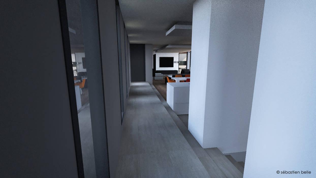 Escalier Interieur Maison Moderne maison contemporaine aix-en-provence intérieur couloir