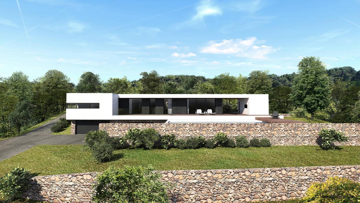 Maison contemporaine Aix-en-Provence 4: Maisons de style de style Moderne par ARRIVETZ & BELLE