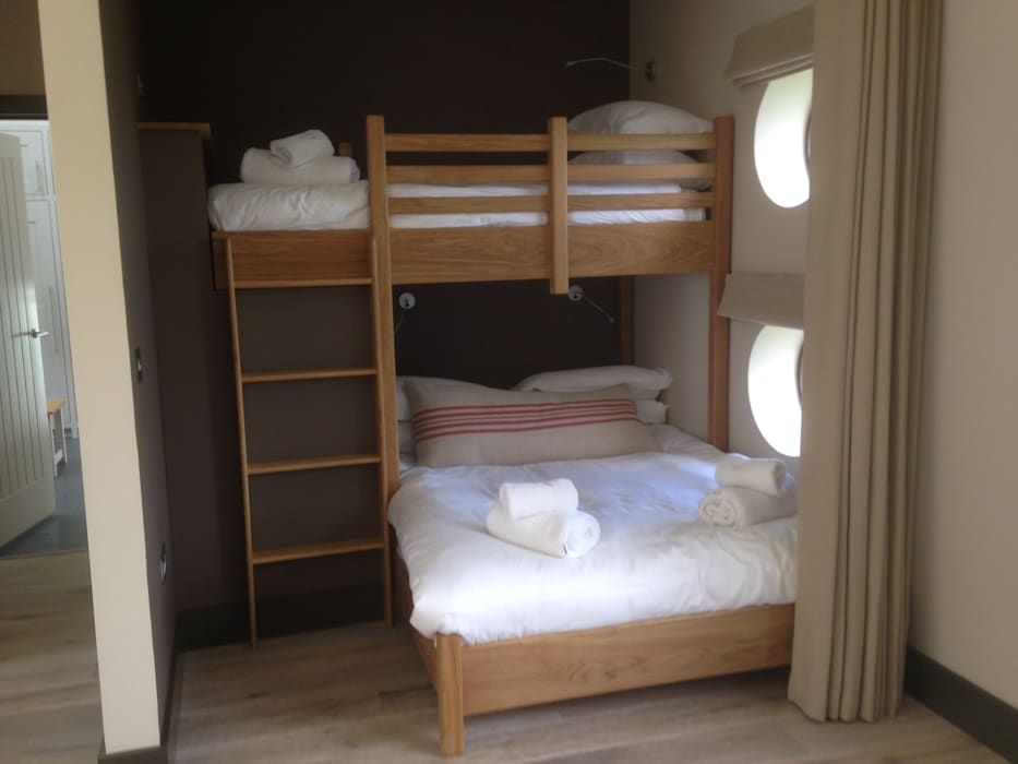 Single and double beds made as bunk beds Broad and Turner BedroomBeds & headboards