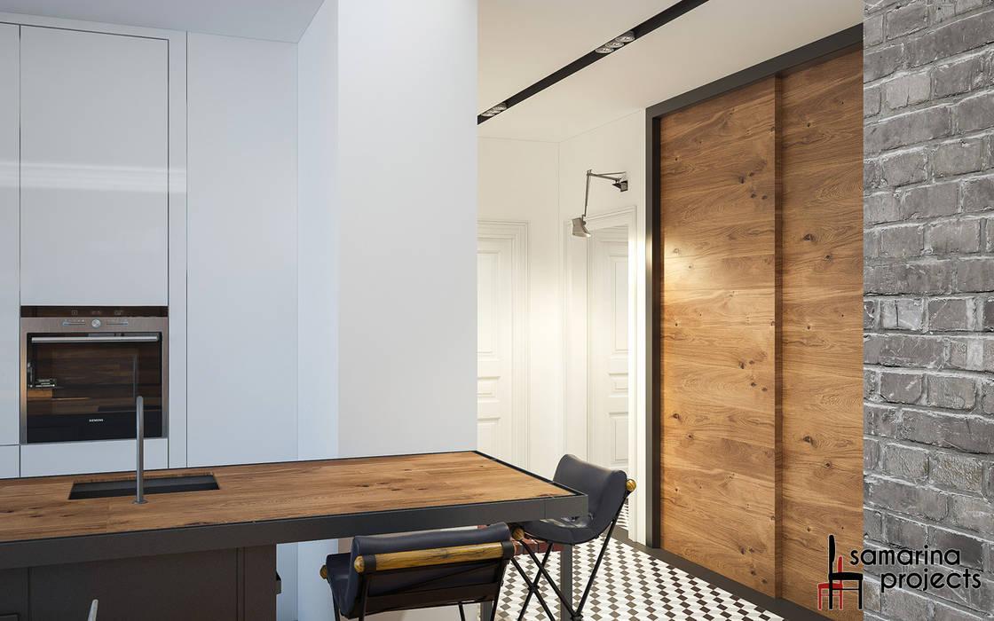 """Дизайн квартиры """"Геометрия цвета"""": Кухни в . Автор – Samarina projects,"""