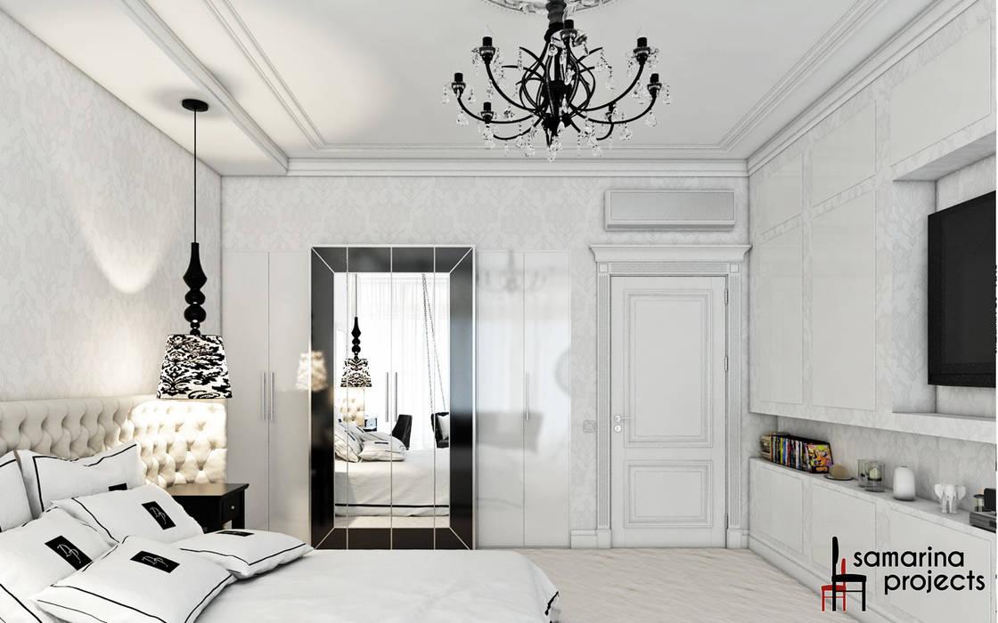"""Дизайн квартиры """"Невесомая красота"""" : Спальни в . Автор – Samarina projects"""