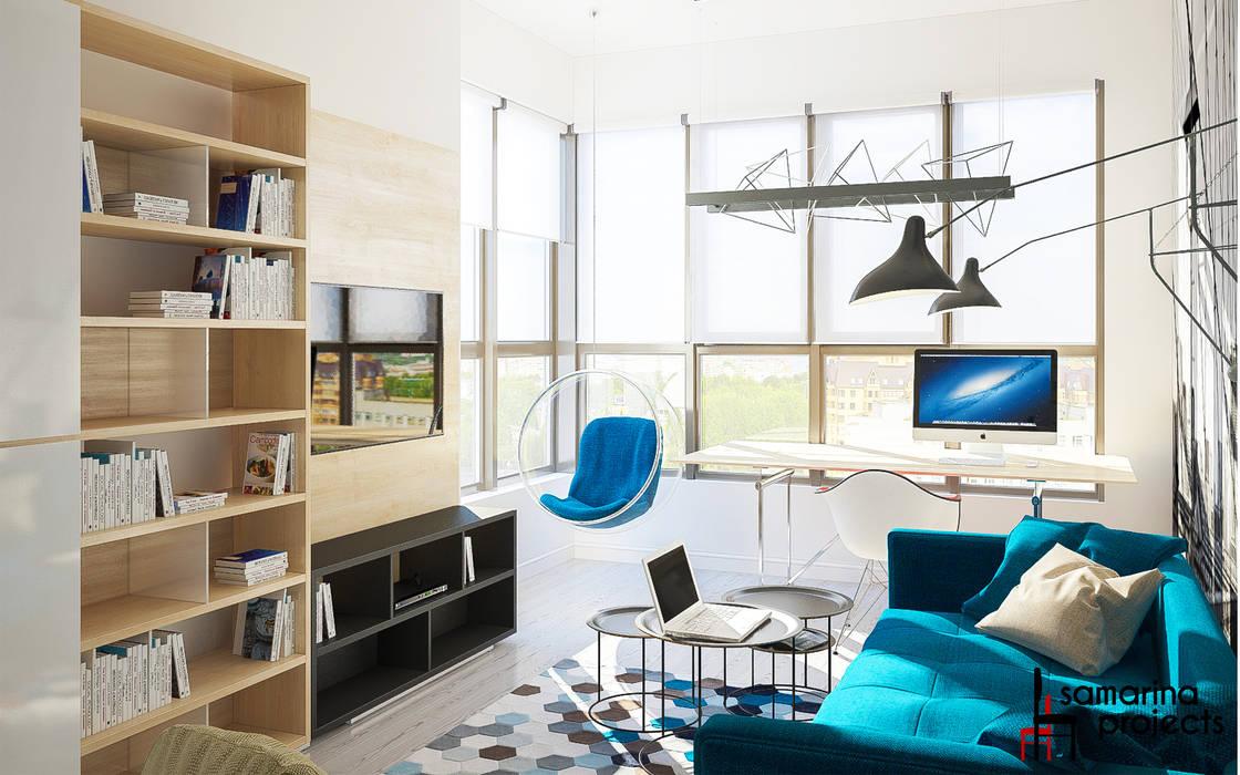 """Дизайн квартиры """"Сочные акценты"""": Детские комнаты в . Автор – Samarina projects,"""