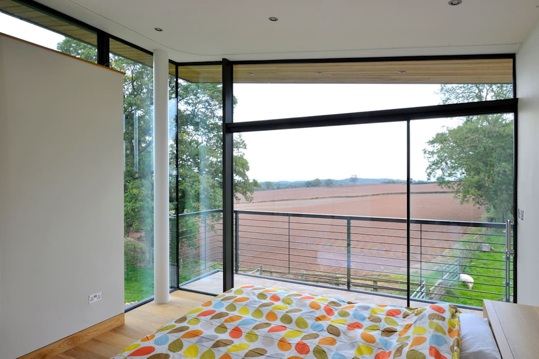 Carreg a Gwydr Modern style bedroom by Hall + Bednarczyk Architects Modern
