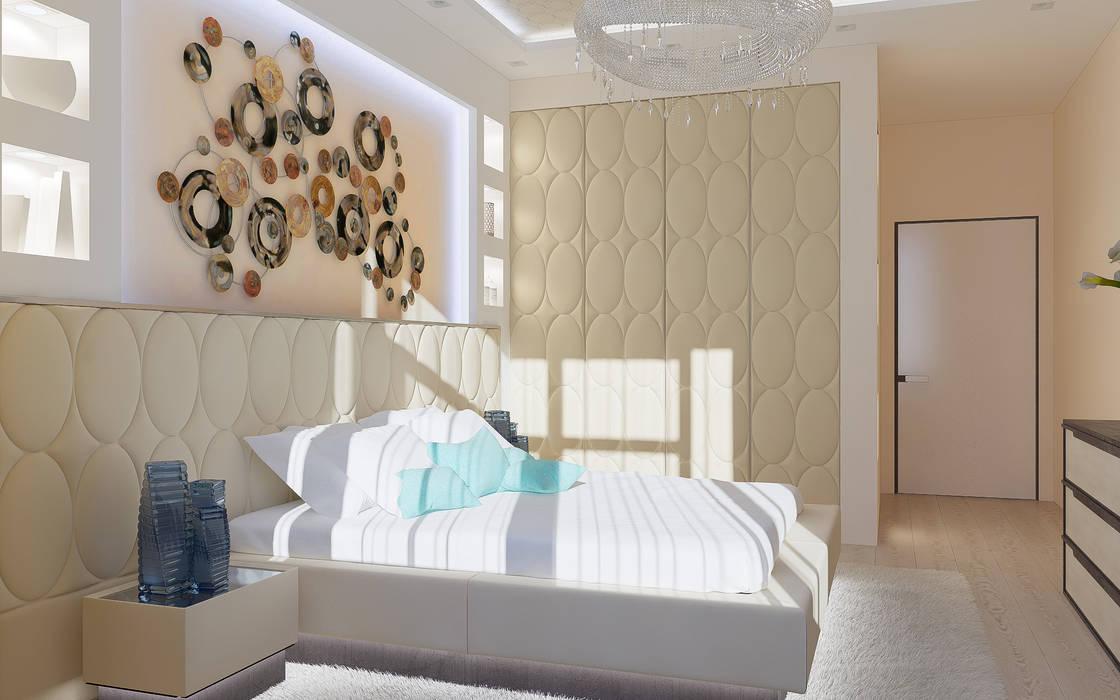 """Дизайн квартиры """"Гармония цвета"""": Спальни в . Автор – Samarina projects"""
