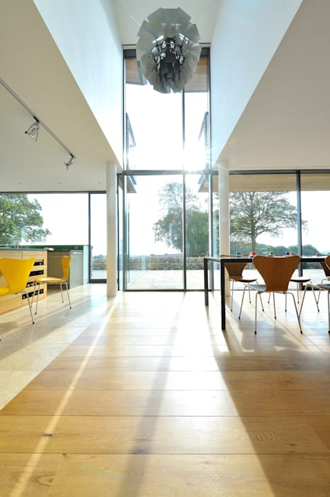 Carreg a Gwydr Hall + Bednarczyk Architects Modern Windows and Doors