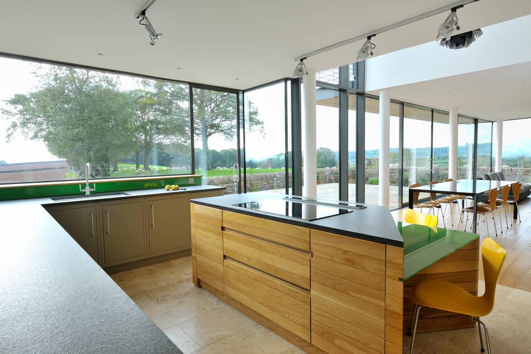 Carreg a Gwydr Cozinhas modernas por Hall + Bednarczyk Architects Moderno