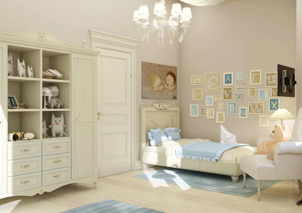 """Дизайн коттеджа """"Комната маленькой принцессы"""" : Детские комнаты в . Автор – Samarina projects"""