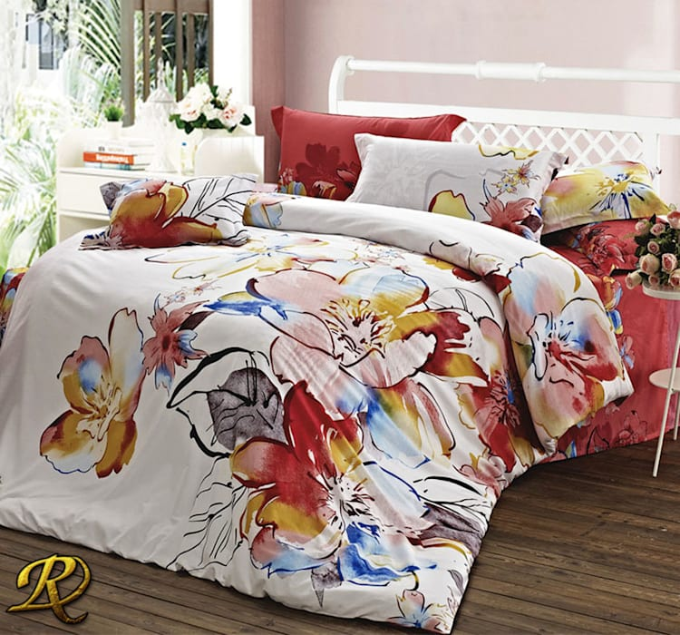 Amanda Cotton Sateen Print 3d Bedding Sets Bedroom By Roxyma