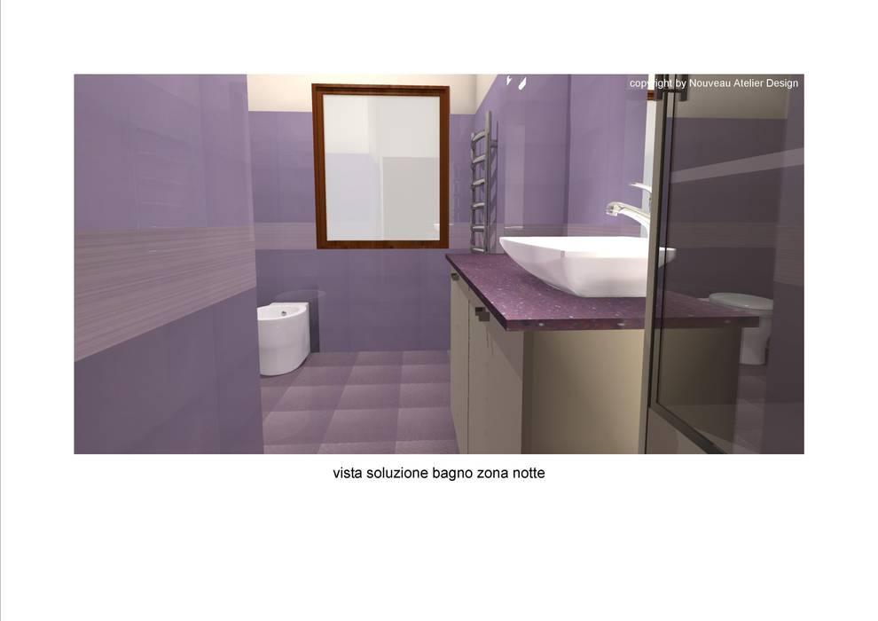 Bagno della zona notte: Bagno in stile in stile Moderno di Nouveau Atelier Design