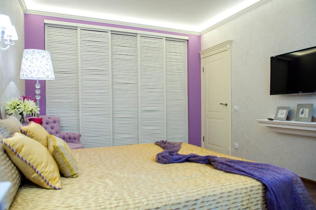 Лавандовые мечты Спальня в эклектичном стиле от Дизайн-студия Екатерины Поповой Эклектичный
