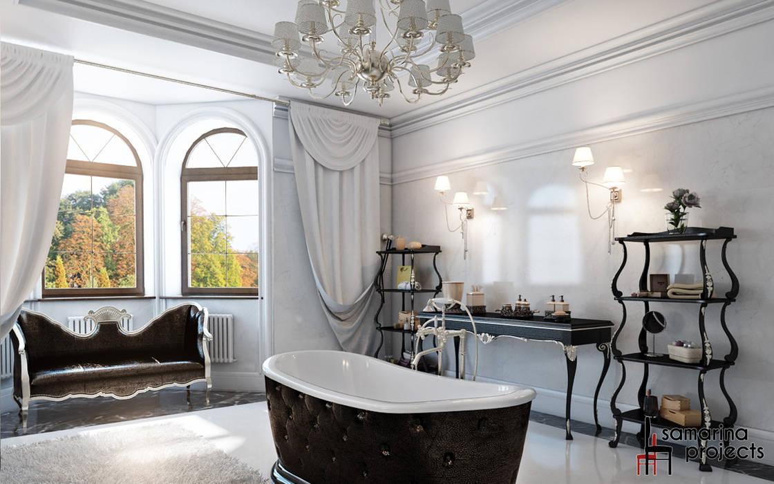 """Дизайн коттеджа """"Владение снежной королевы"""": Ванные комнаты в . Автор – Samarina projects"""