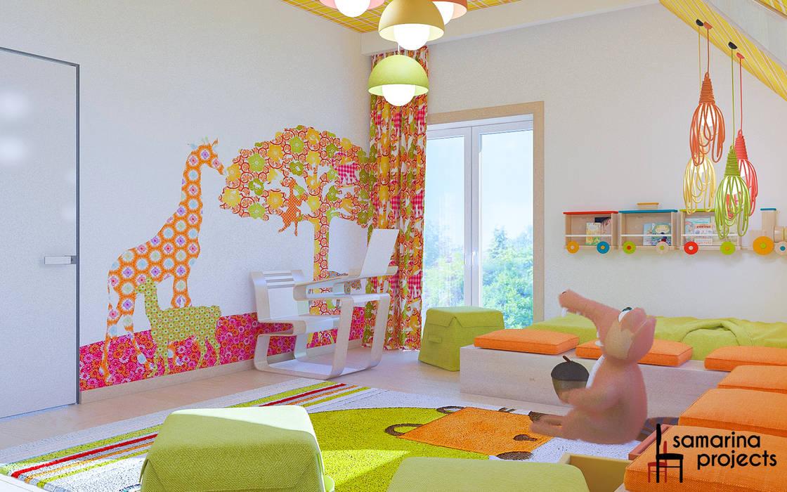 """Дизайн коттеджа """"В ритме загородной жизни"""" : Детские комнаты в . Автор – Samarina projects"""