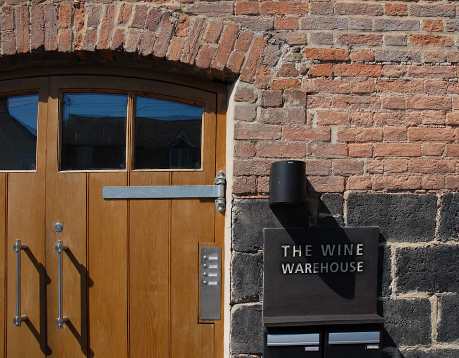 The Wine Warehouse, Chepstow Industrial style houses by Hall + Bednarczyk Architects Industrial