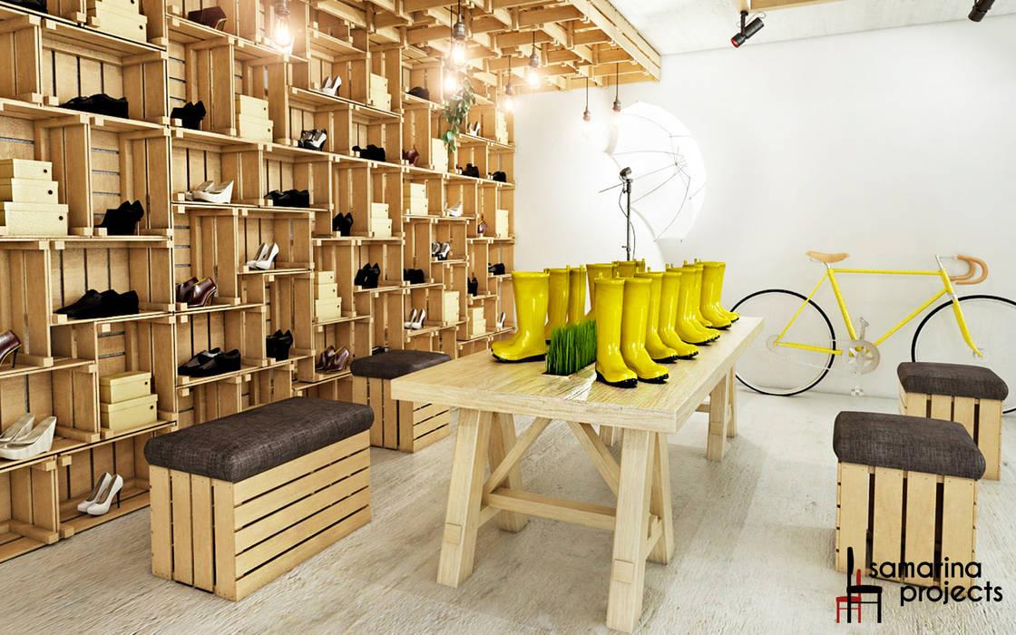 Дизайн бутика обуви для бездорожья : Коммерческие помещения в . Автор – Samarina projects