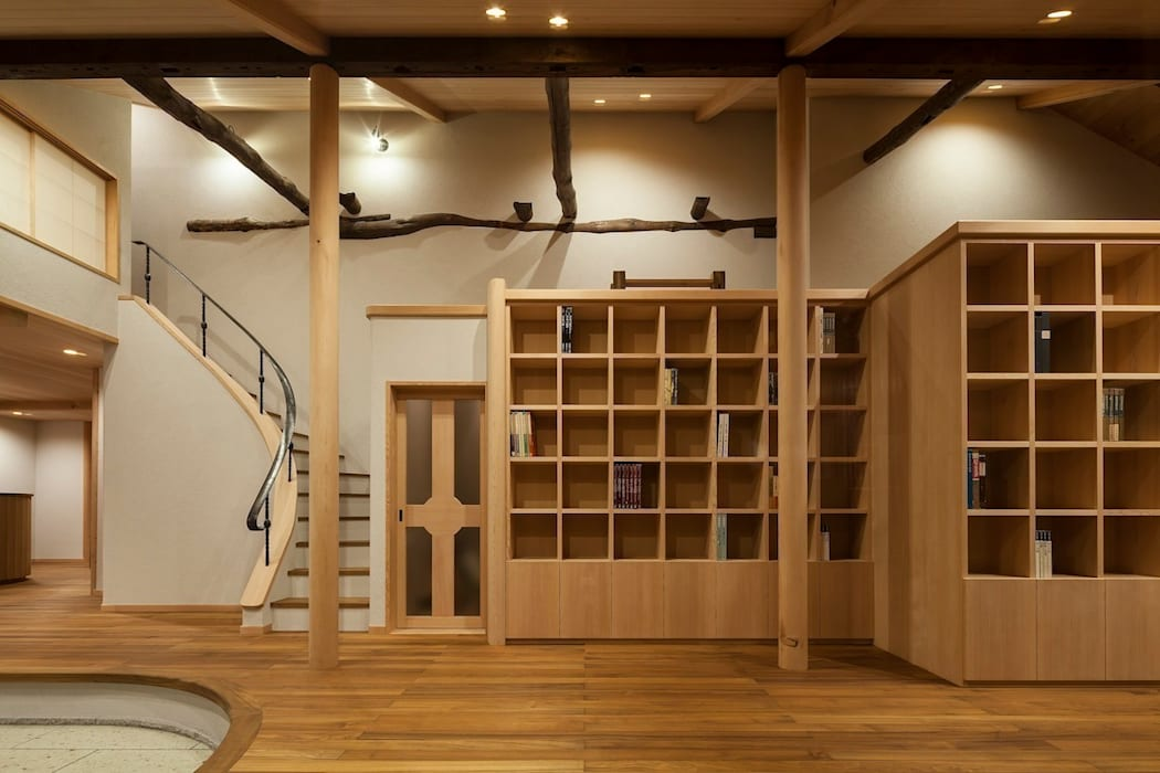 次世代へ引き継ぐ家 −世田谷の民家再生− オリジナルデザインの リビング の 松井建築研究所 オリジナル