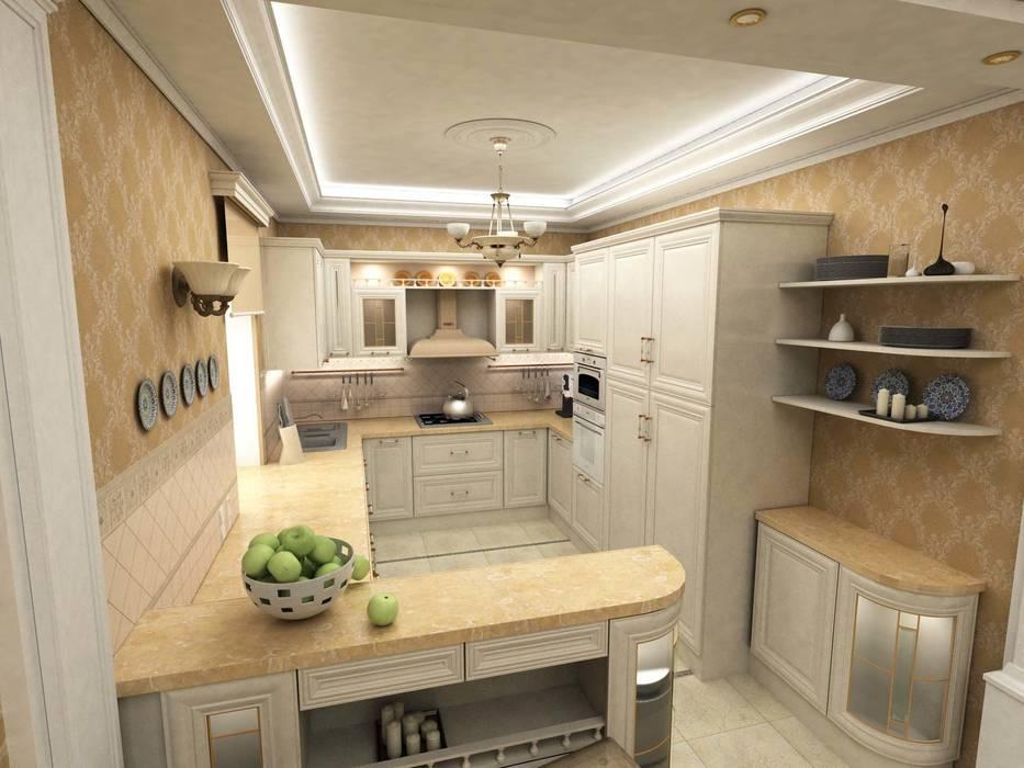 Дом: Кухни в . Автор – Дизайн-студия Сергеевой Надежды, Классический