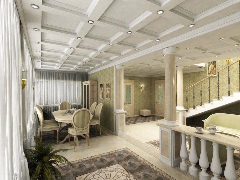 Дом: Столовые комнаты в . Автор – Дизайн-студия Сергеевой Надежды, Классический