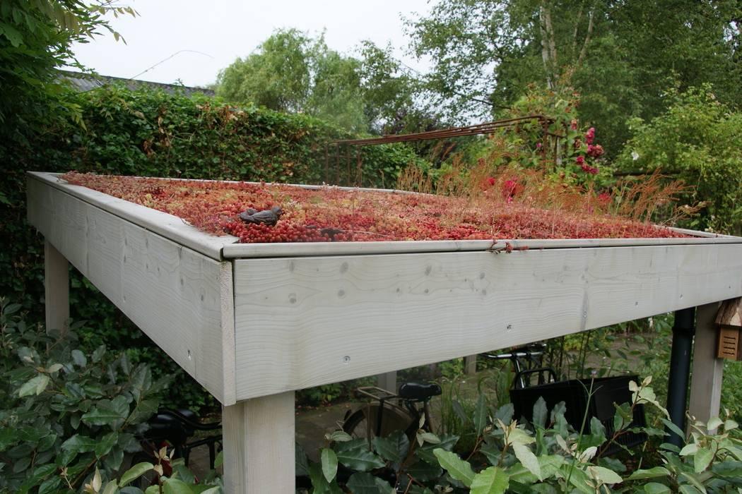 Fietsoverkapping Moderne tuinen van Ontwerpstudio Angela's Tuinen Modern
