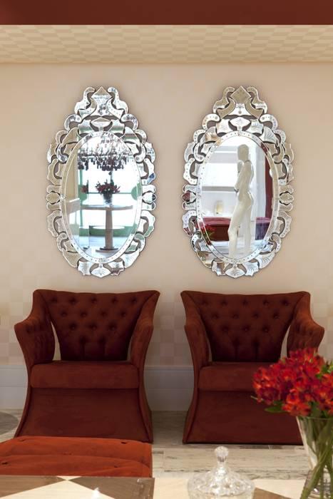 JOALHERIA DESIGN - CASA COR SP 2015 - BRASIL - Espelhos Venezianos: Lojas e imóveis comerciais  por Adriana Scartaris design e interiores