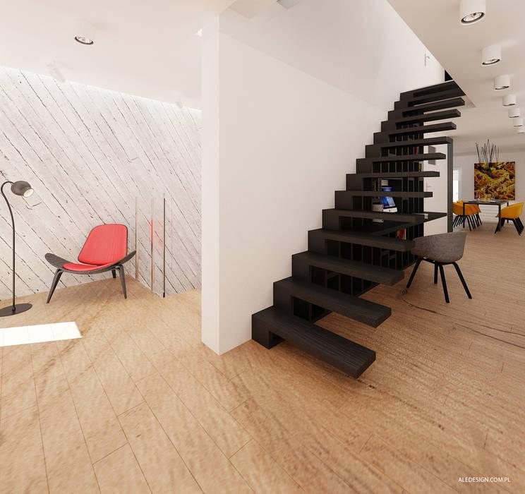 Projekt mieszkania 118m2 w Villa lux w Dąbrowie Górniczej  http://aledesign.com.pl/32.html  www.facebook.com/designale: styl , w kategorii Korytarz, przedpokój zaprojektowany przez Ale design Grzegorz Grzywacz