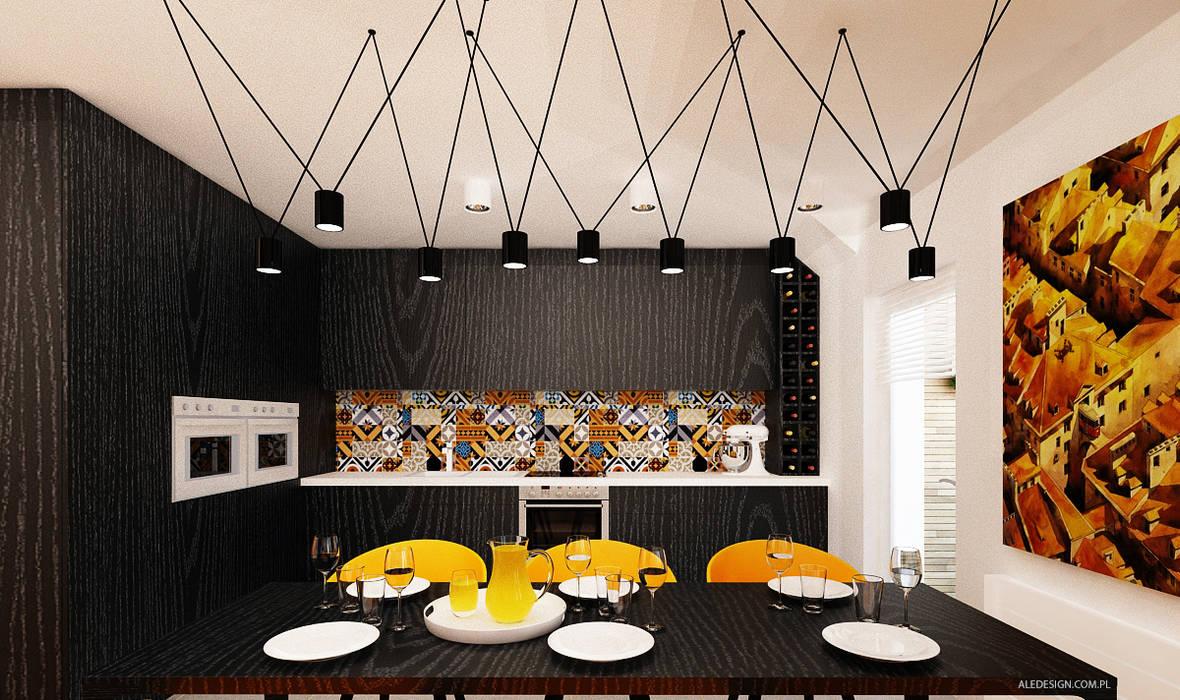 Projekt mieszkania 118m2 w Villa lux w Dąbrowie Górniczej Minimalistyczna kuchnia od Ale design Grzegorz Grzywacz Minimalistyczny