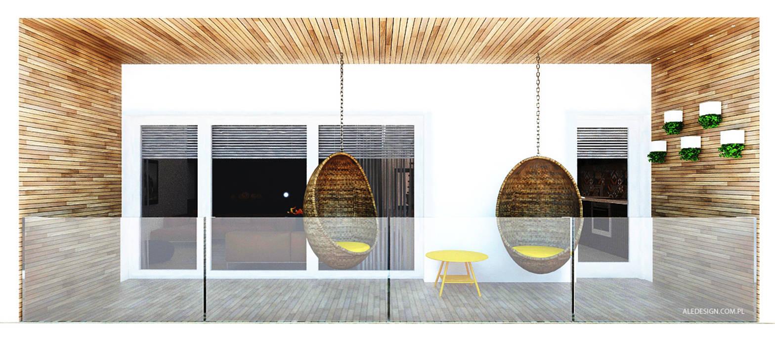 Projekt mieszkania 118m2 w Villa lux w Dąbrowie Górniczej Minimalistyczny balkon, taras i weranda od Ale design Grzegorz Grzywacz Minimalistyczny