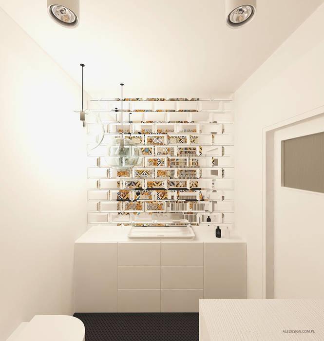 Projekt mieszkania 118m2 w Villa lux w Dąbrowie Górniczej : styl , w kategorii Łazienka zaprojektowany przez Ale design Grzegorz Grzywacz
