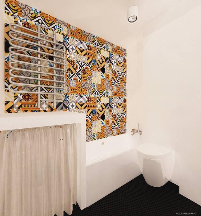 Projekt mieszkania 118m2 w Villa lux w Dąbrowie Górniczej Nowoczesna łazienka od Ale design Grzegorz Grzywacz Nowoczesny