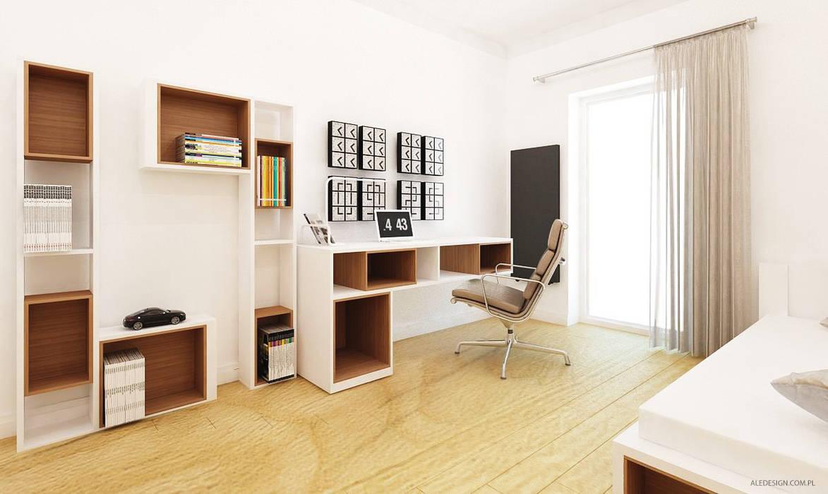 Projekt mieszkania 118m2 w Villa lux w Dąbrowie Górniczej Minimalistyczny pokój dziecięcy od Ale design Grzegorz Grzywacz Minimalistyczny