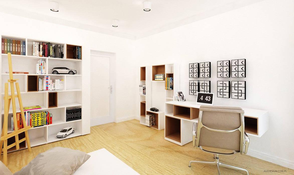 Projekt mieszkania 118m2 w Villa lux w Dąbrowie Górniczej Nowoczesny pokój dziecięcy od Ale design Grzegorz Grzywacz Nowoczesny