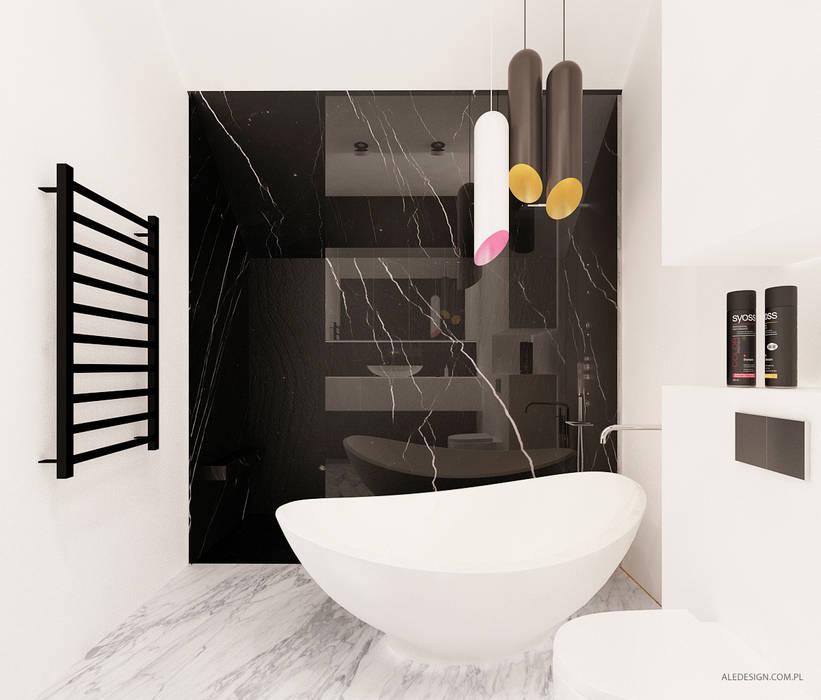 Projekt mieszkania 118m2 w Villa lux w Dąbrowie Górniczej: styl , w kategorii Łazienka zaprojektowany przez Ale design Grzegorz Grzywacz