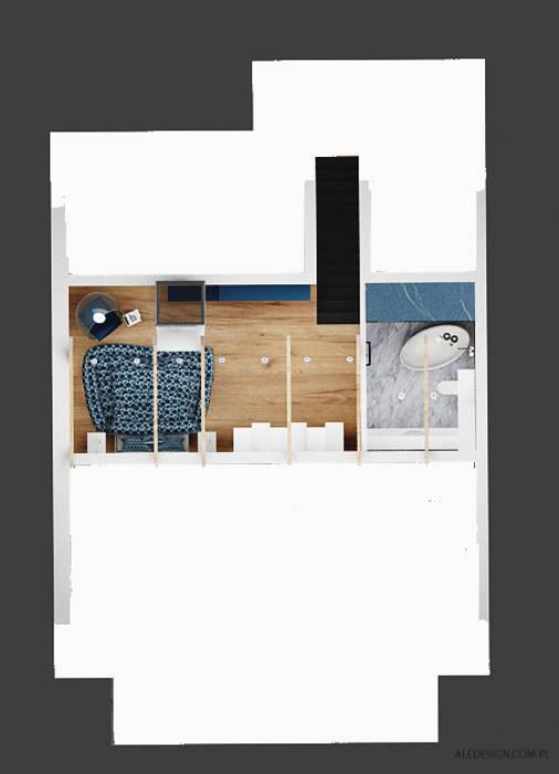 Projekt mieszkania 118m2 w Villa lux w Dąbrowie Górniczej Nowoczesne domy od Ale design Grzegorz Grzywacz Nowoczesny