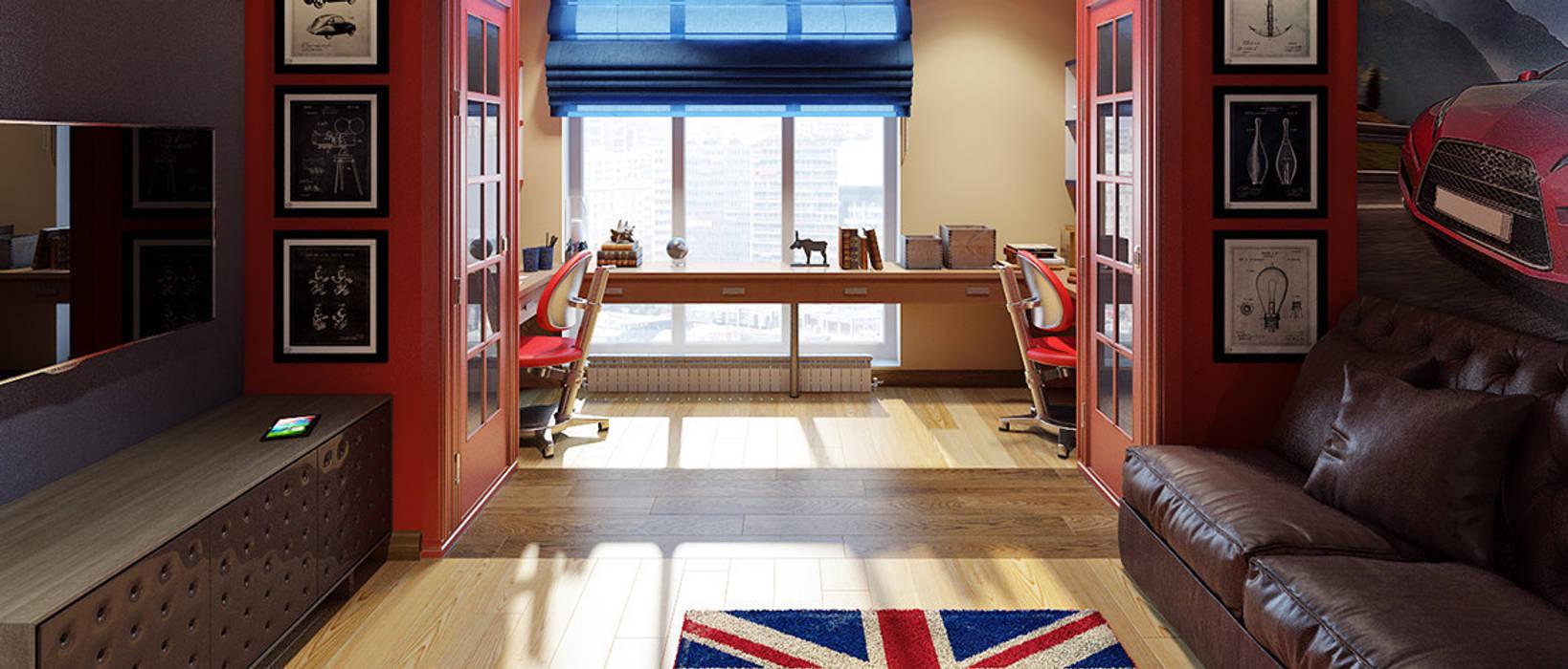 Modern Living Room by Дизайн студия Чекалиной Алёны Modern
