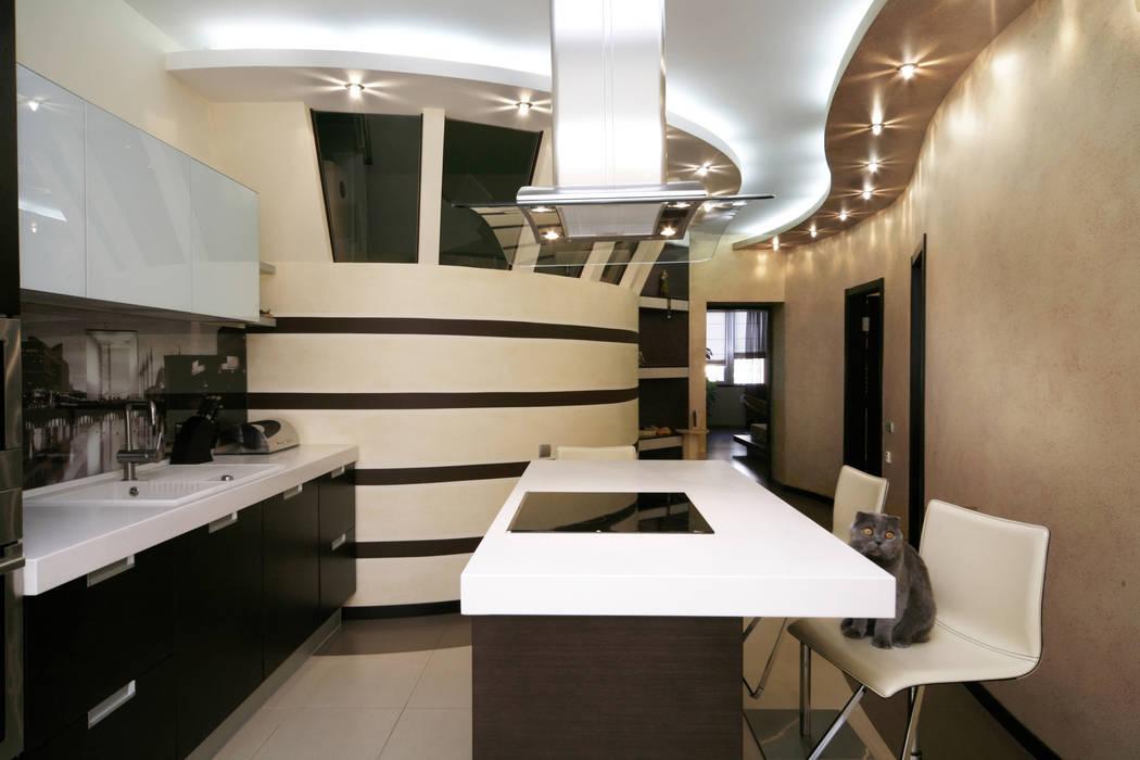"""Дизайн квартиры """"Домашний уют"""": Кухни в . Автор – Samarina projects"""