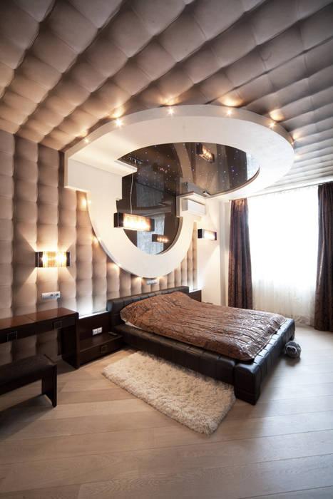 """Дизайн квартиры """"Геометрия и глянец"""": Спальни в . Автор – Samarina projects"""