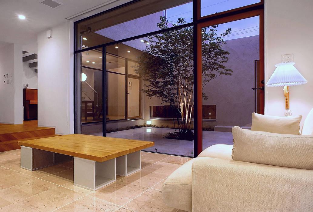 Scandinavian style living room by アースワーク建築設計事務所 Scandinavian