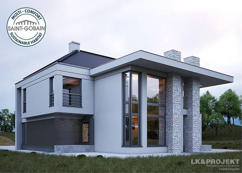 LK&1131 perspektywa ogrodowa 2 Nowoczesne domy od homify Nowoczesny