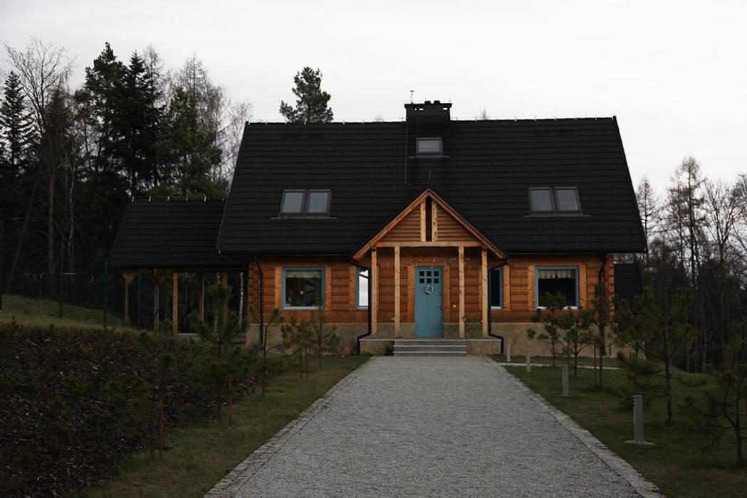 Деревянные дома в . Автор – LK & Projekt Sp. z o.o., Рустикальный