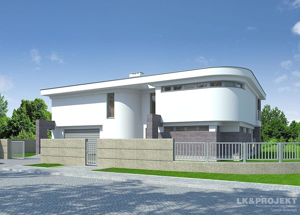 LK&803: styl , w kategorii Domy zaprojektowany przez LK & Projekt Sp. z o.o.