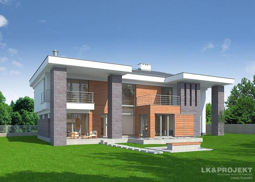 LK&803 Nowoczesne domy od LK & Projekt Sp. z o.o. Nowoczesny